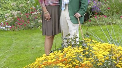 Penny and Paul McKenna in their Churchill garden.