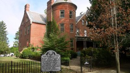 Abolitionist John Brown was hanged on the grounds of this home in Charles Town, W.Va., in 1859.