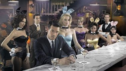 "Laura Benanti, left, David Krumholtz, Eddie Cibrian, Amber Heard, Leah Renee, Naturi Naughton, Wes Ramsey and others bring back a past era in ""The Playboy Club."""