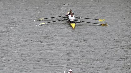 Rowers cruise along the Allegheny River during the 2011 Head of the Ohio on Saturday.