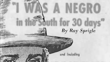 "This reprint of ""I Was a Negro in the South for 30 Days"" is Ray Sprigle's blockbuster 1948 newspaper series that detailed his experiences when, at age 61, he disguised himself as a black man and went on a dangerous undercover mission. The 21-part Post-Gazette series set off one of the first national media debates over segregation. Sprigle won the 1938 Pulitzer Prize for Reporting for a Post-Gazette series proving that Hugo Black, a recent appointee to the U.S. Supreme Court, had been a member of the Ku Klux Klan."