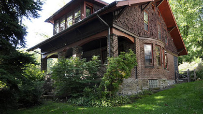 The Craftsman-style home at 101 Cherry Valley Road in Forest Hills is on the market for $239,900.