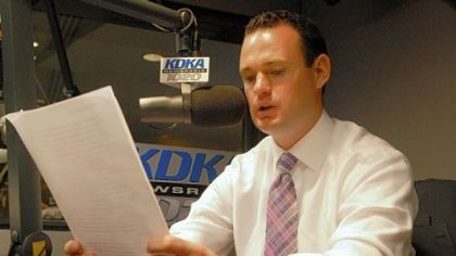 The goal for Pittsburgh Mayor Luke Ravenstahl, seen delivering his weekly address at KDKA's Green Tree studio, is to appeal to retailers that might be a good fit for Downtown.
