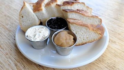 Farm bread with honey butter, blueberry jam and apple butter will be a menu item at The Porch.