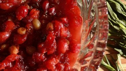 Cranberry chipotle sauce.
