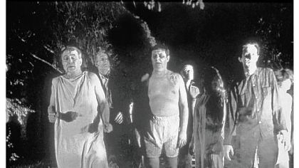 Zombies roam the landscape in &quot;Night of the Living Dead.&quot;