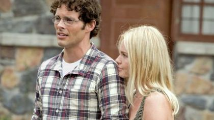 James Marsden and Kate Bosworth in &quot;Straw Dogs.&quot;