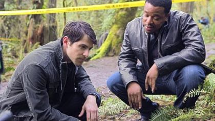 "David Giuntoli as Nick Burkhardt, left, and Russell Hornsby as Hank Green in ""Grimm."""