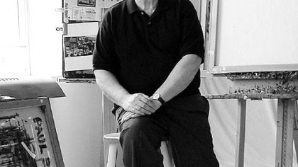 Paul Binai in his studio in Indiana, Pa., in 2003