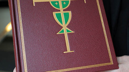 The new Roman Missal to be used in English-speaking churches worldwide at St. Mary of Mercy, Downtown.
