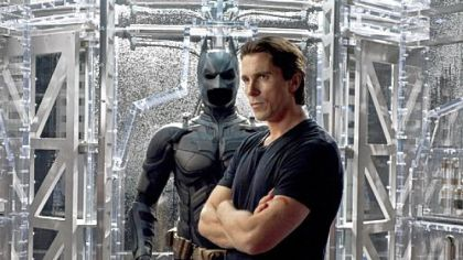 "Oscar-winner Christian Bale (for ""The Fighter"") dons cape and cowl once more as Batman in ""The Dark Knight Rises."""